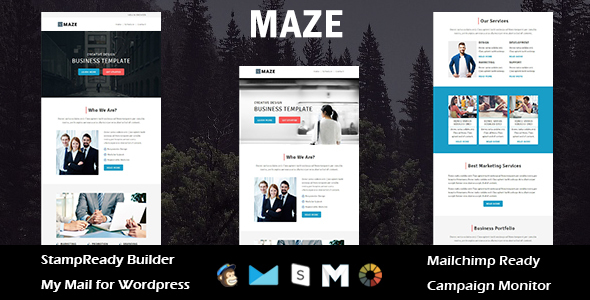 Maze - Multipurpose Responsive Email Template + Stampready Builder            TFx