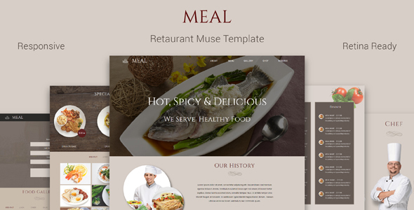 Meal_Restaurant Muse Template            TFx