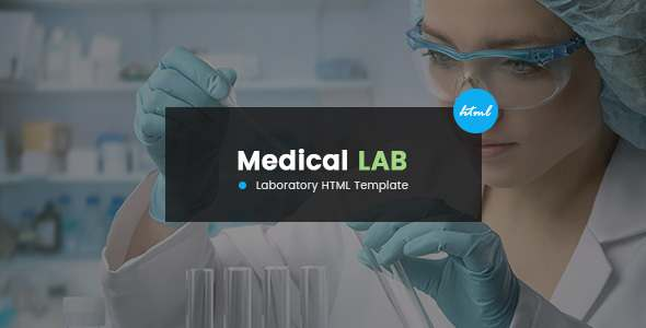 Medical Lab - A Science and Medical Laboratory HTML Template with Vast Options            TFx