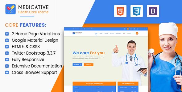 Medicative - Responsive Medical HTML Template            TFx