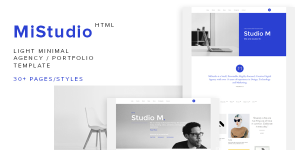 MiStudio - Light Minimal Agency/Portfolio Template            TFx