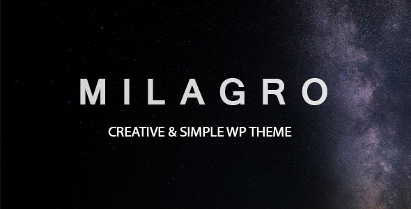 Milagro – One Page Multipurpose Theme            TFx