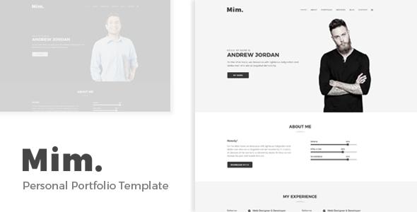 Mim - Personal Portfolio Template            TFx