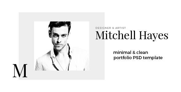 Mitchell Hayes – Portfolio PSD template            TFx