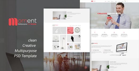 Moment One Page Corporate and Business Template            TFx