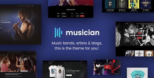 Musician - Music Band, Blog, Shop HTML Template            TFx