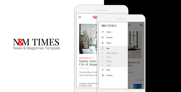 N&M Times - News/Magazines Mobile Template            TFx