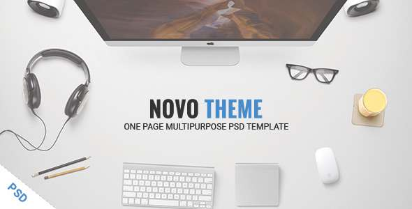 NOVOTHEME - One Page Multipurpose PSD Template            TFx