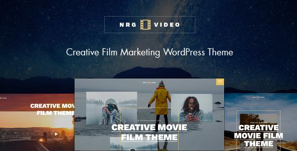 NRGVideo - Movie Film Marketing WordPress Theme            TFx