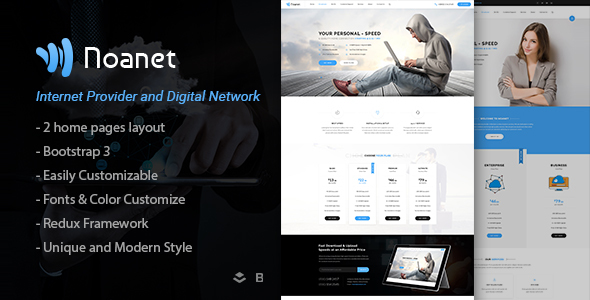 Noanet | Internet Provider And Digital Network WordPress Theme            TFx