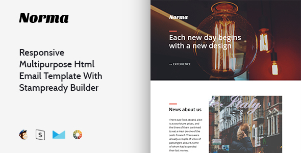 Norma – Responsive Multipurpose Email Template + Stampready Builder            TFx