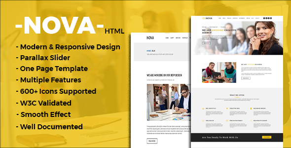 Nova - One Page Multipurpose Template            TFx