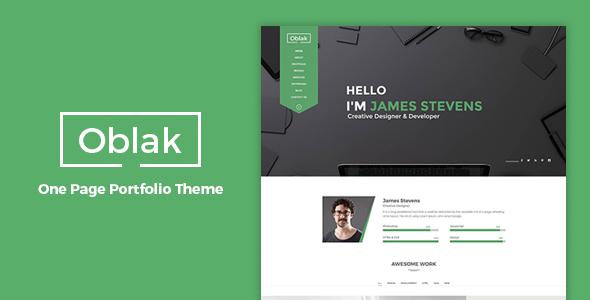 Oblak - One Page Portfolio WP Theme            TFx