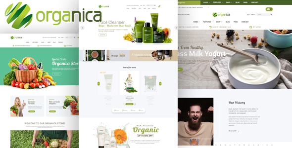 Organica - Organic, Beauty, Natural Cosmetics, Food, Farn and Eco HTML Template            TFx