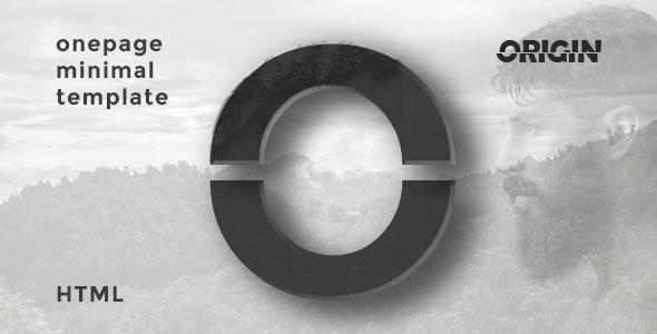 Origin | Onepage Minimal HTML Template            TFx