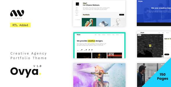 Ovya - Minimal Agency Portfolio Template            TFx