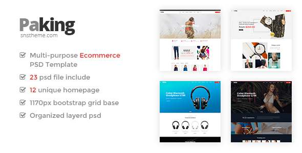 PACKING - Ecommerce PSD Template            TFx