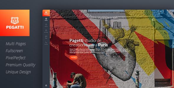 Pagetti - Fullscreen Portfolio Template            TFx