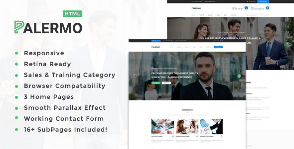 Palermo - Training, Coaching, Consulting & Business HTML Template            TFx