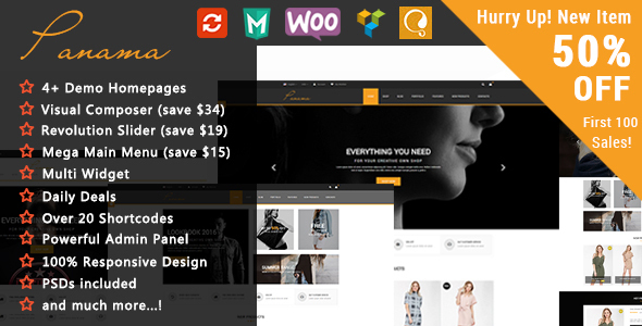 Panama - Responsive WooCommerce WordPress Theme            TFx