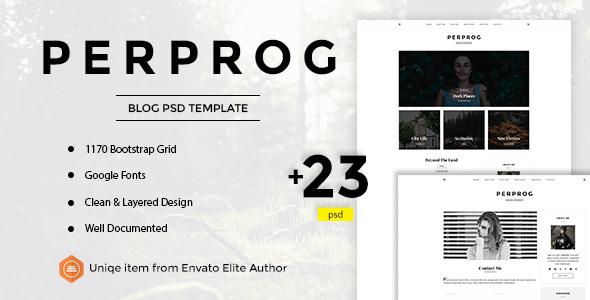 Perprog - Personal Blog PSD Template            TFx