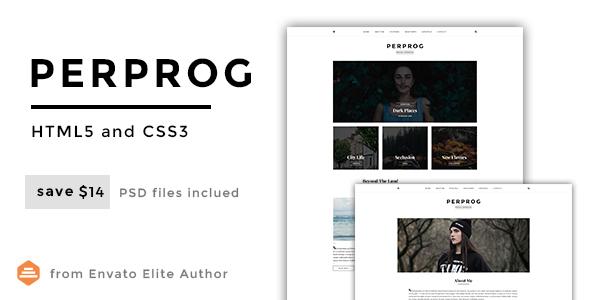 Perprog - Personal Blog HTML5 Template            TFx