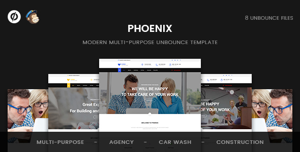 Phoenix – Multi-Purpose Unbounce Template            TFx