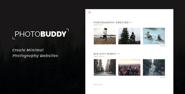 Photo Buddy - Photography, Portfolio, Minimal PSD Template            TFx