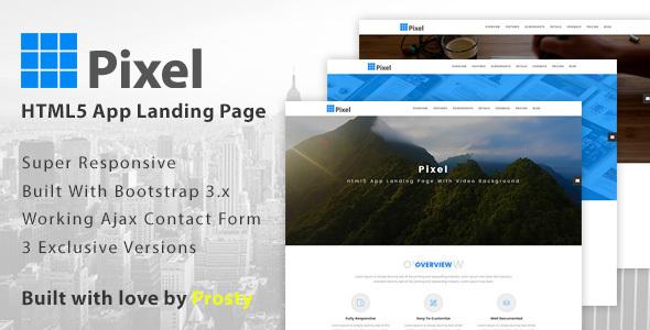 Pixel - App Landing Page            TFx