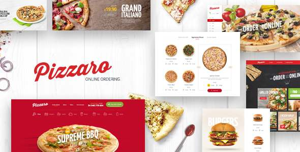 Pizzaro - Food Responsive Magento 1 & 2 Theme            TFx