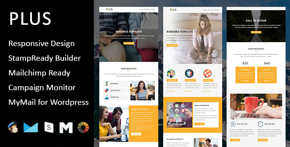 Plus - Multipurpose Responsive Email Template with Stampready Builder            TFx
