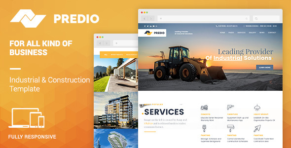 Predio | Industrial and Construction Template            TFx