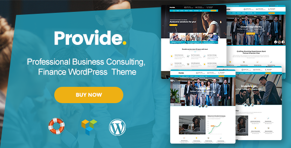Provide - Professional Business Consulting, Finance WordPress Theme            TFx