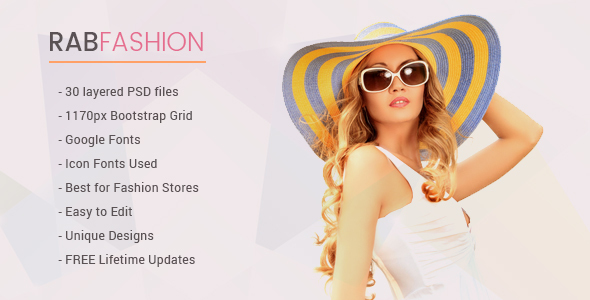 RAB - Fashion eCommerce PSD Template            TFx
