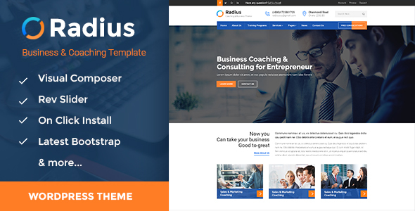 Radius - Training, Coaching, Consulting & Business WordPress Theme            TFx