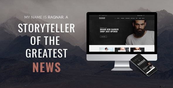 Ragnar Blog - A Bold WordPress Blog Theme            TFx