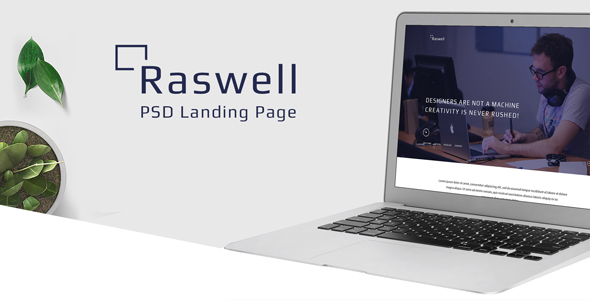 Raswell- One Page Creative PSD Template            TFx