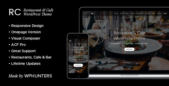 Rc - Restaurant & Cafe Onepage WordPress Theme            TFx