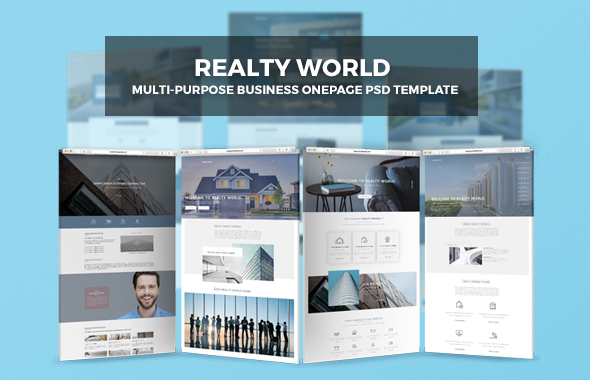 Realty World | Multi-Purpose Onepage Business PSD Template            TFx