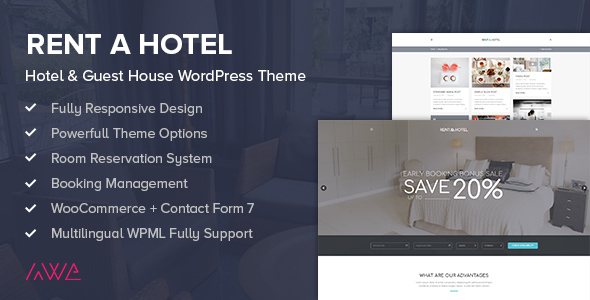Rent a Hotel - Hotel & Guest House WordPress Theme            TFx