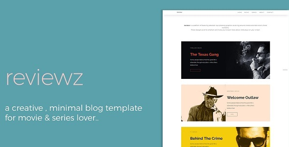 Reviewz - Responsive Film/Series Review Blog Template            TFx