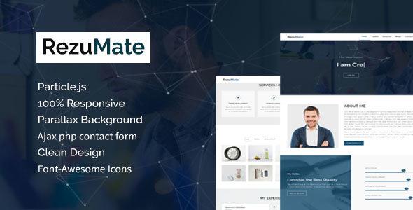 RezuMate - Personal Portfolio Template            TFx