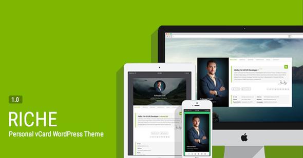 Riche - Personal vCard WordPress Theme            TFx