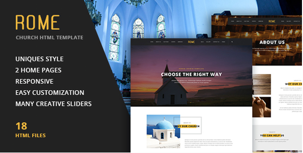 Rome - Church HTML Template            TFx