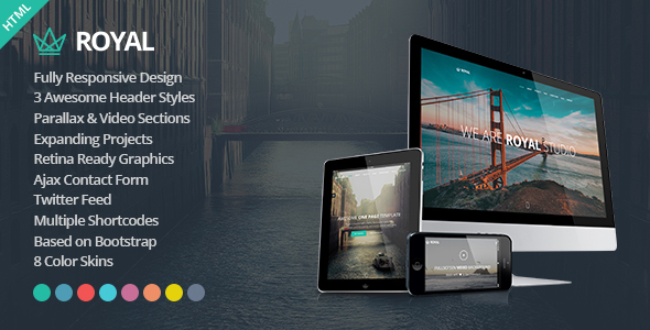 Royal - Responsive One Page Parallax Template            TFx