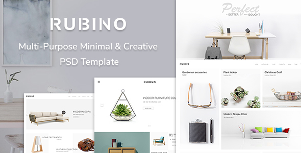 Rubino - Minimal & Creative PSD Template            TFx