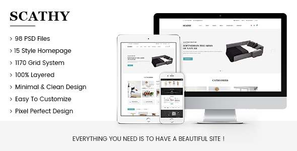 Scathy - Minimalist eCommerce PSD Template            TFx