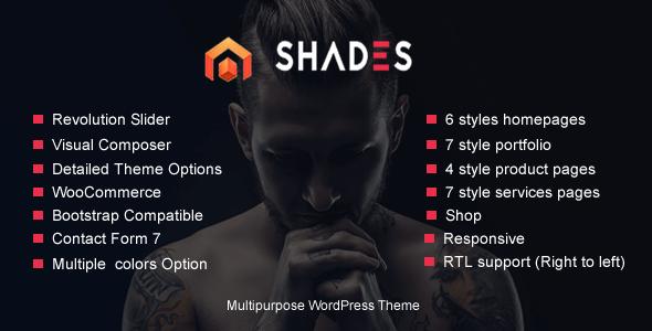 Shades Multipurpose Reponsive WordPress Theme            TFx