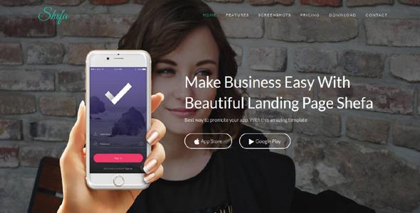 Shefa - App Landing Page            TFx