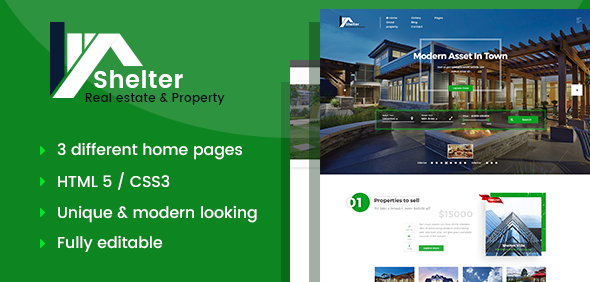 Shelter - Real Estate & Property HTML Template            TFx